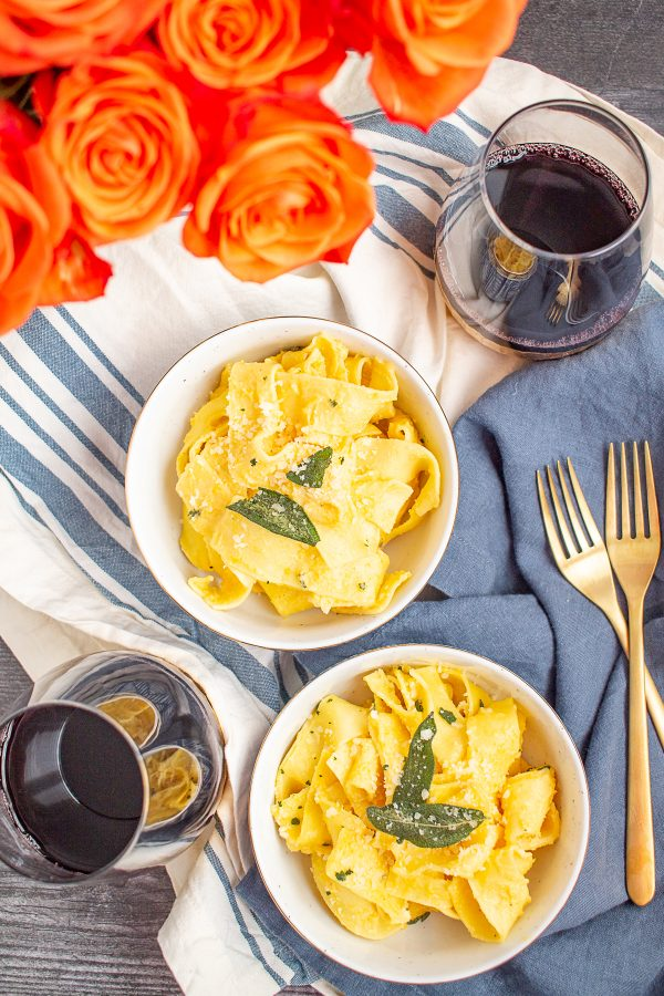 Butternut Squash Alfredo with Parmesan and Fried Sage