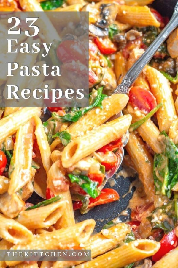 These easy pasta recipes are comfort food meals that help make dinnertime a little easier.