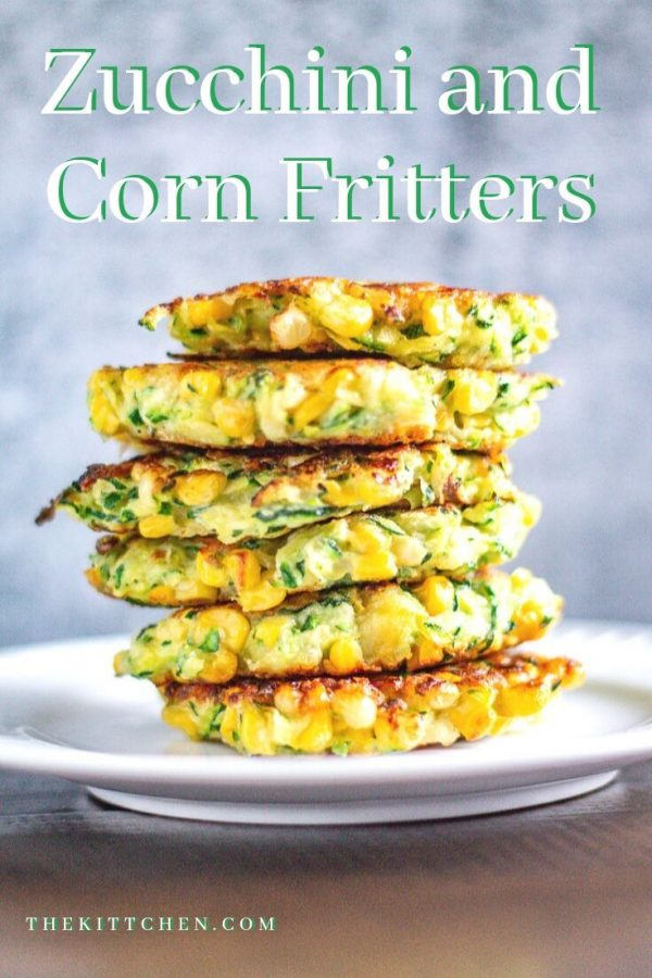 Zucchini and Corn Fritters are crispy little cakes of corn and shredded zucchini seasoned with Pecorino Romano, garlic, and lemon juice. Serve them as an appetizer or side dish!