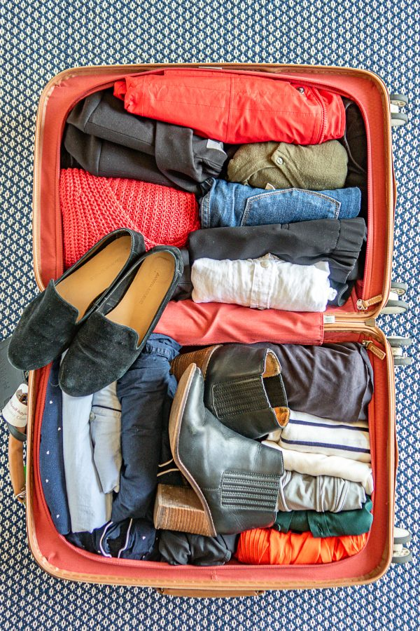14 Item Travel Capsule Wardrobe that fits in a carry on
