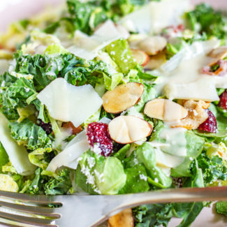 Brussels Sprout and Kale Salad inspired by Blue Door Farm Stand