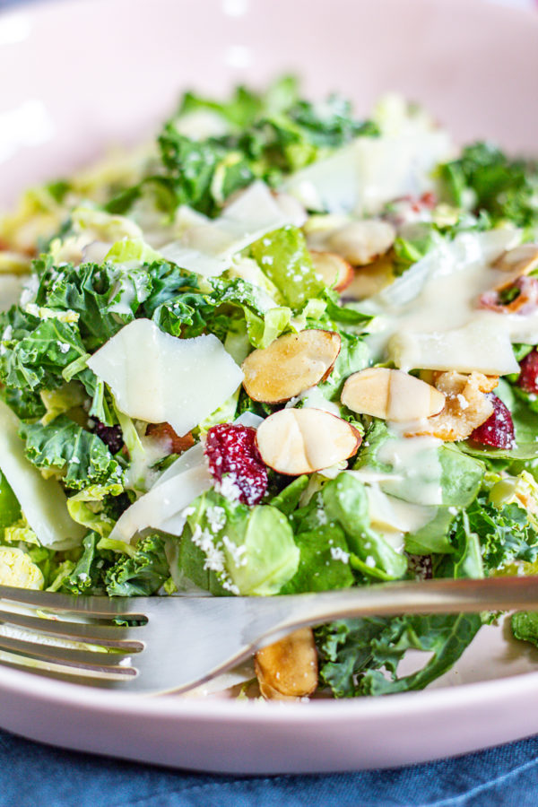Brussels Sprout and Kale Salad inspired by Blue Door Farm Stand 7