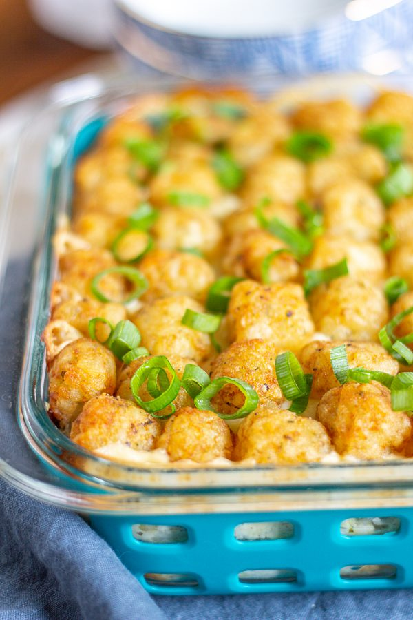 Cheesy Ranch Chicken Casserole with Tater Tots