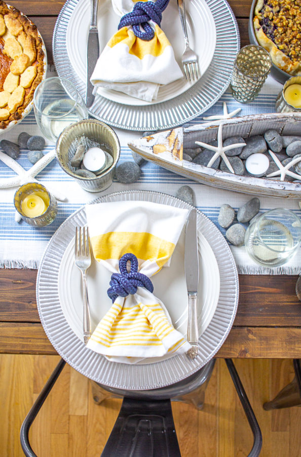 Coastal Inspired Table Setting 5