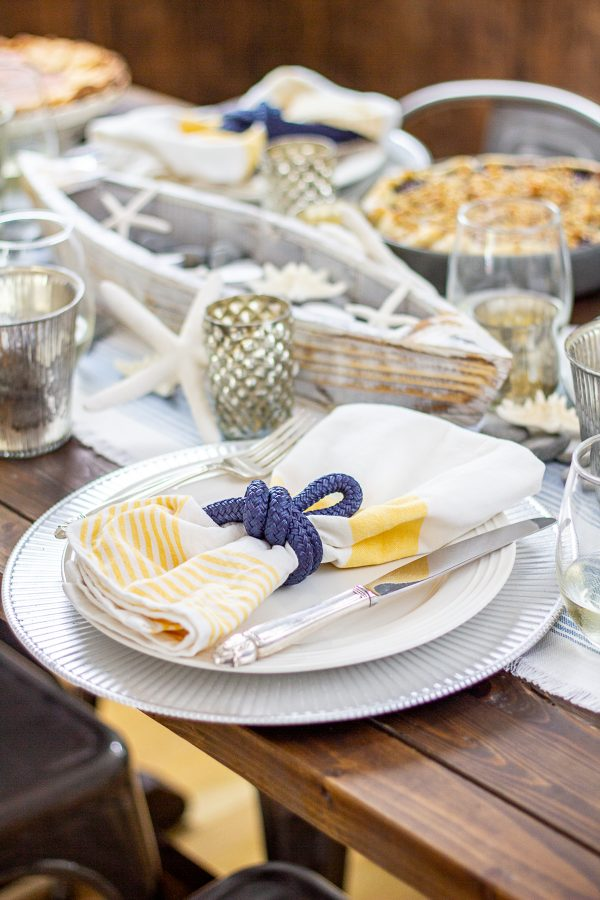 Coastal Inspired Table Setting 8