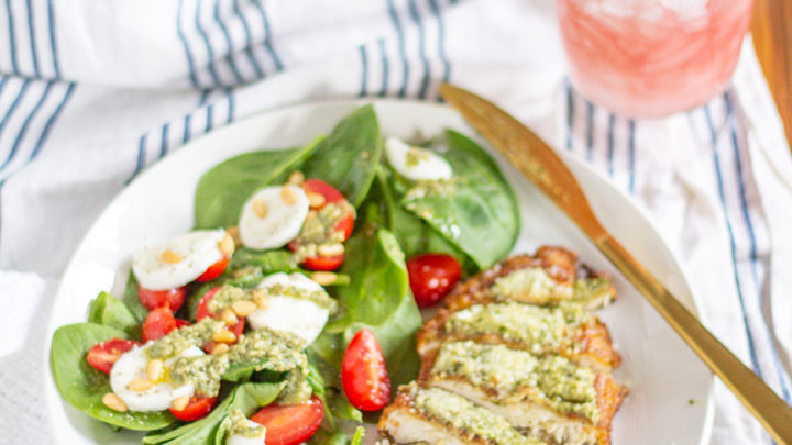Crispy Chicken Caprese Salad