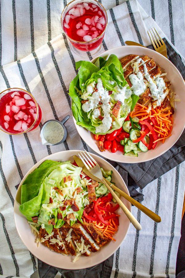 Crispy Chicken Ranch Salad 5