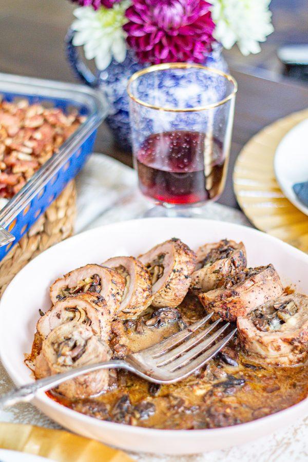 Mushroom Stuffed Pork Tenderloin 10