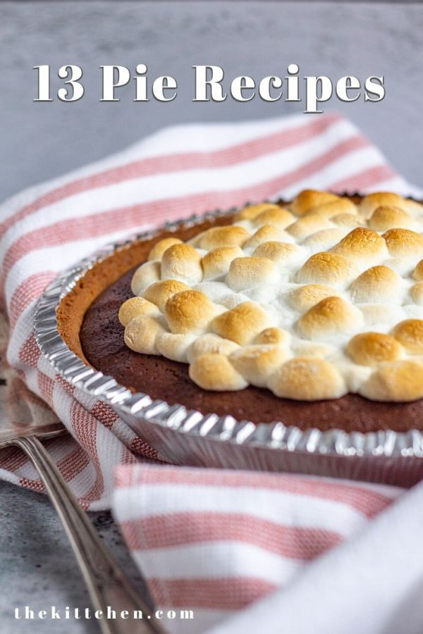13 Pie Recipes perfect for any party! This list includes easy no-bake pies, classic pies, and indulgent chocolate pies!