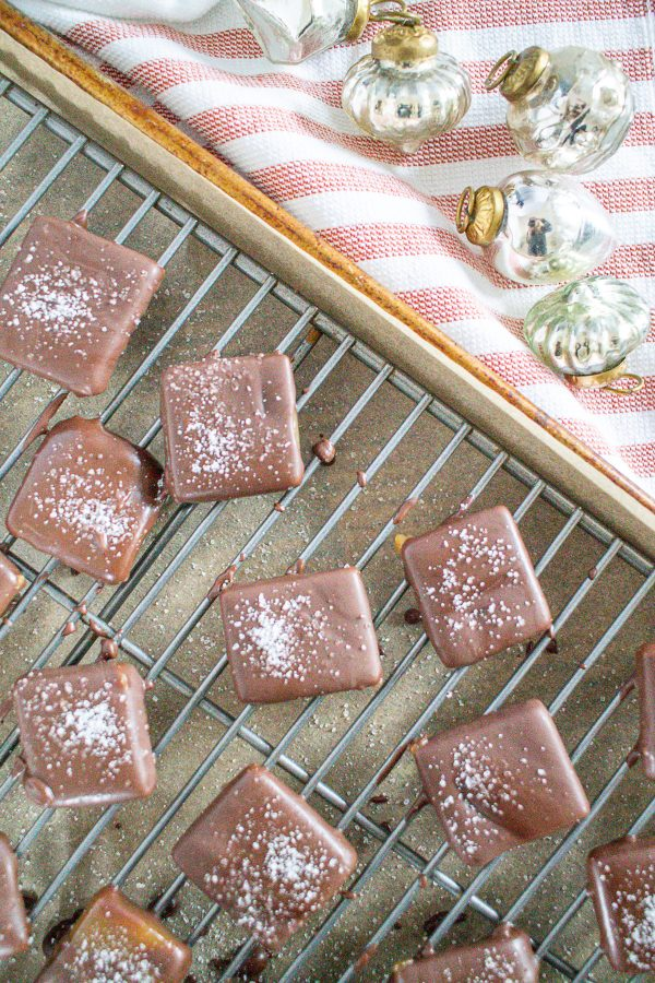 Dark Chocolate Covered Sea Salt Caramels 11