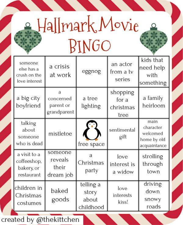 Hallmark Movie Bingo | Four unique bingo cards that go along with Hallmark Christmas movies, Lifetime Christmas movies, and all cheesy holiday movies. #bingo #hallmarkmovies