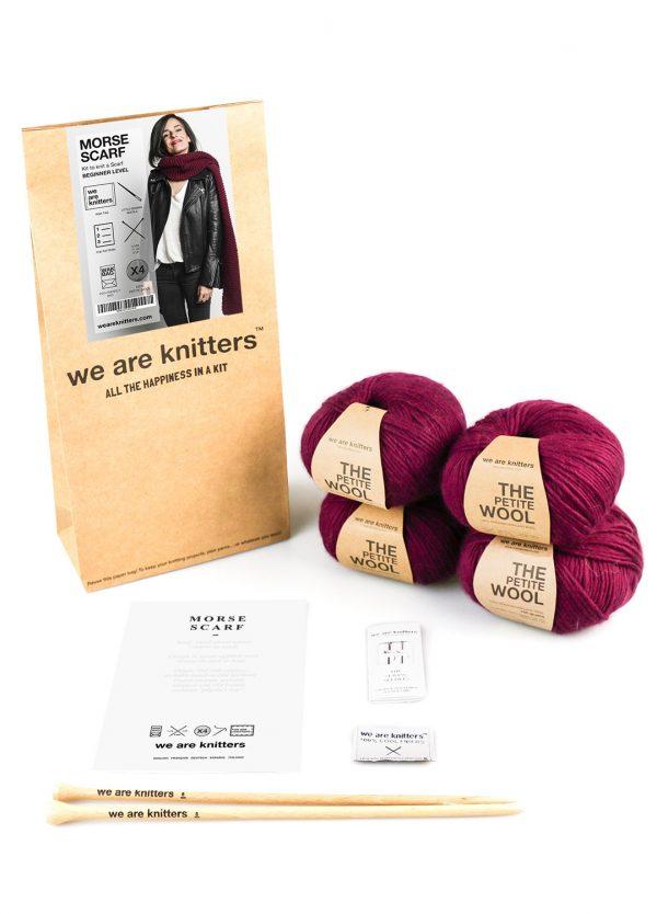 knitting kit petite wool morse scarf 03 1