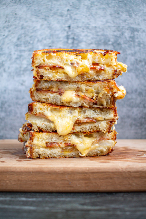 Loaded Baked Potato Grilled Cheese 7