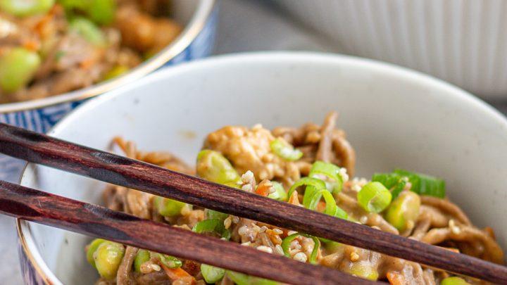 Sesame Peanut Noodles with Chicken