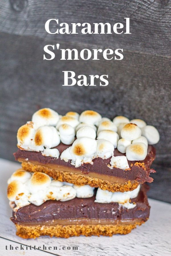 Learn how to make Caramel S'mores Bars with a brown butter graham cracker crust, a layer of caramel, soft melt-in-your-mouth chocolate, and toasted marshmallows.