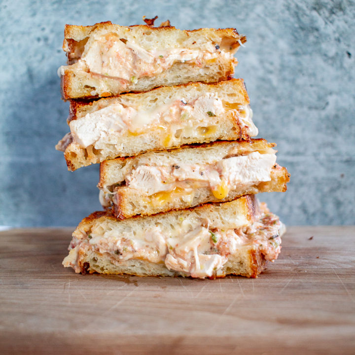 Enchiladas Suizas Grilled Cheese 4