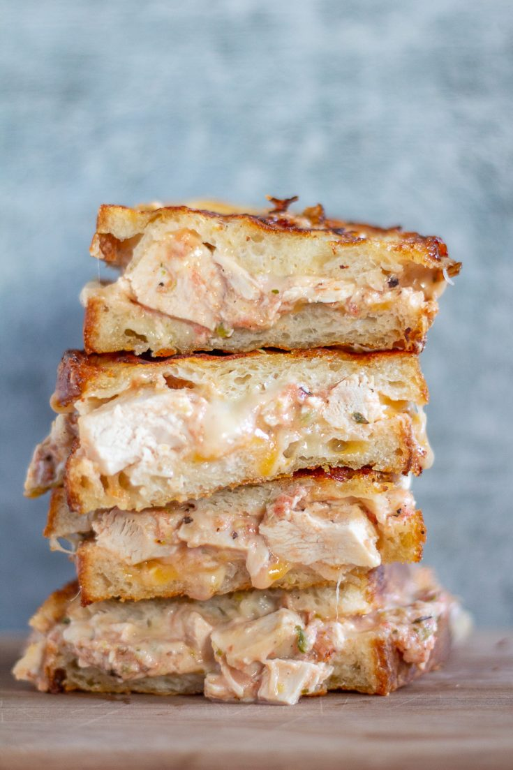 Enchiladas Suizas Grilled Cheese