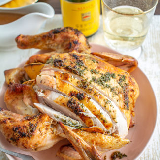 Lemon, Rosemary, and Oregano Roast Chicken
