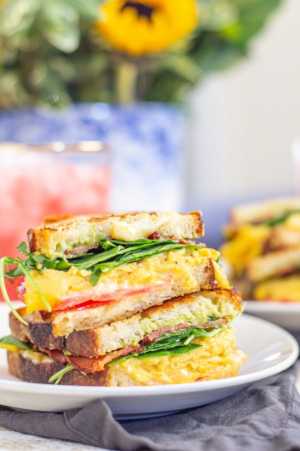 Scrambled Egg Grilled Cheese - Quick and Easy Weekday Lunches - Work from Home Lunches
