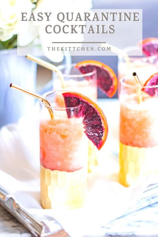 A collection of 7 easy quarantine cocktails to make your time sheltering at home a bit more bearable.