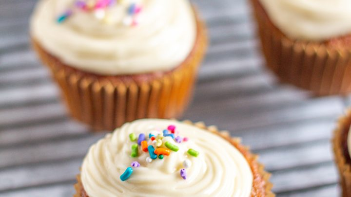 Reduced Fat Carrot Cake Cupcakes