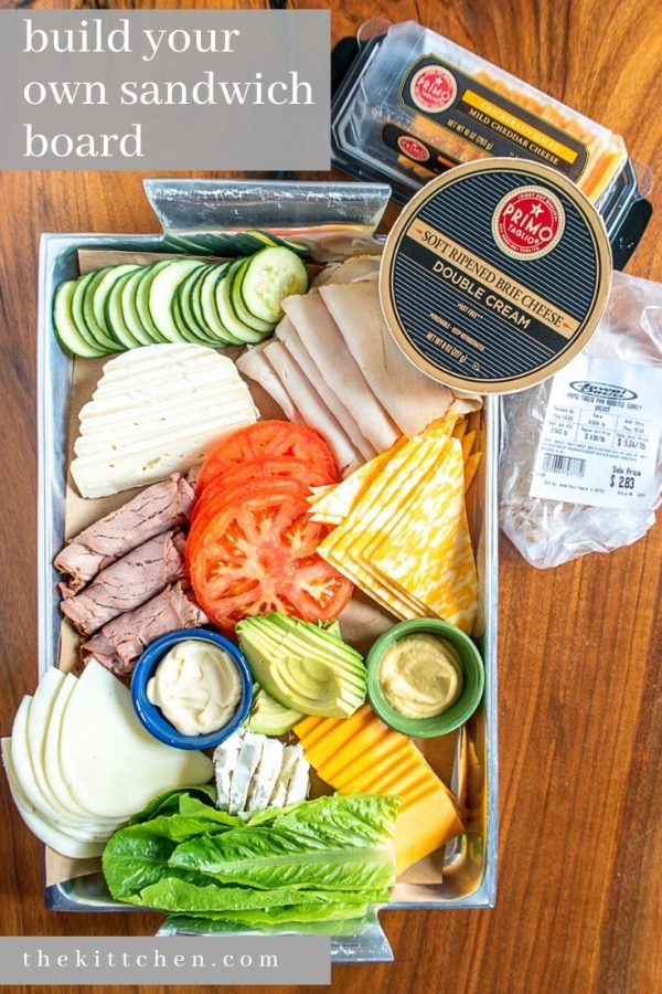 #ad Learn how to create a Build Your Own Sandwich Board using #PrimoTaglio meats and cheeses! This is a way to turn mealtime into a fun activity for your family and an easy way to feed a crowd if you are entertaining this summer.