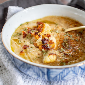 Caramelized Onion and Cauliflower Soup