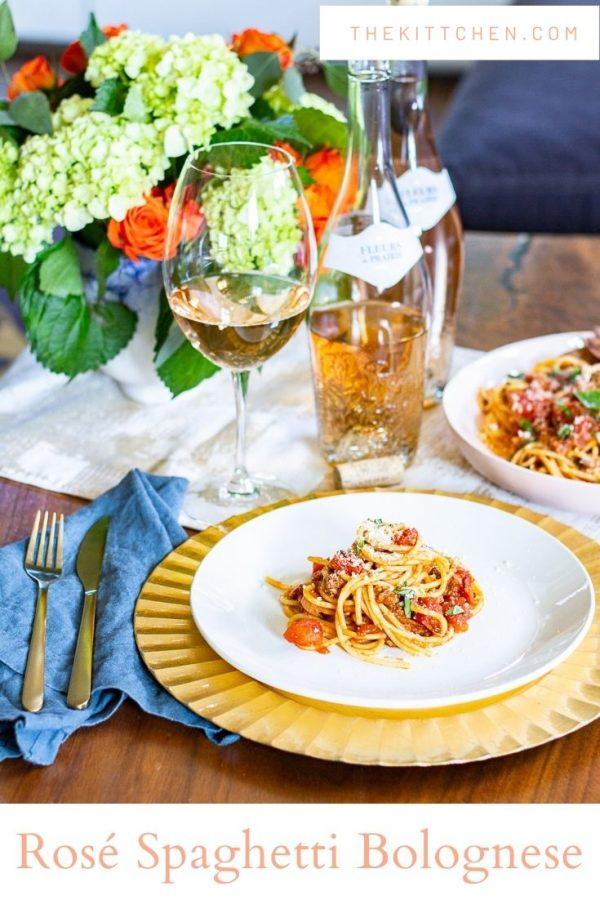 Easy Fleurs de Prairie Rosé Spaghetti Bolognese