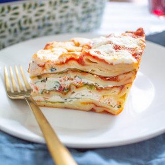 Easy Vegetarian Lasagna Recipe | Five Veggie Lasagna
