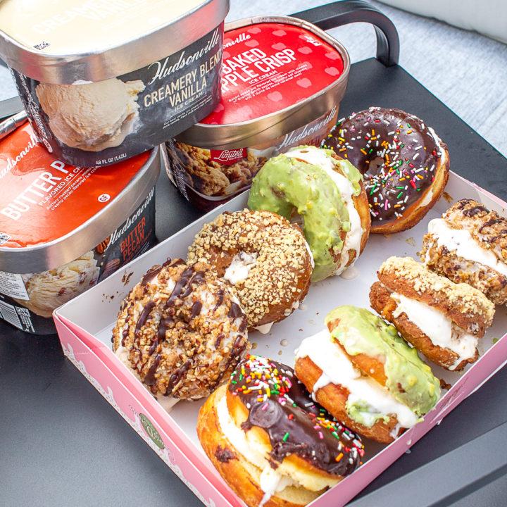 Doughnut Ice Cream Sandwiches with Hudsonville Ice Cream